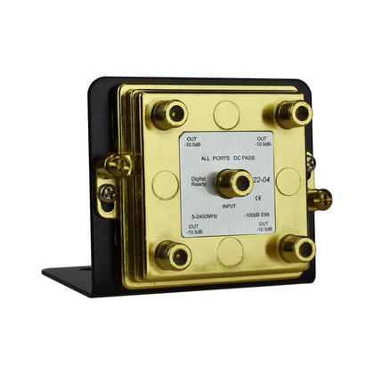 4-Way Splitter 2.4GHz on Mounting Bracket - Monoprice®