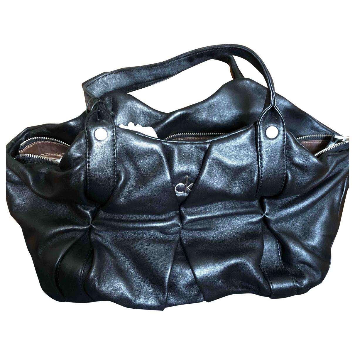 Calvin Klein \N Black Leather handbag for Women \N
