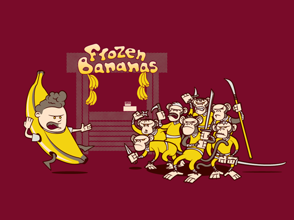 Trouble At The Banana Stand T Shirt