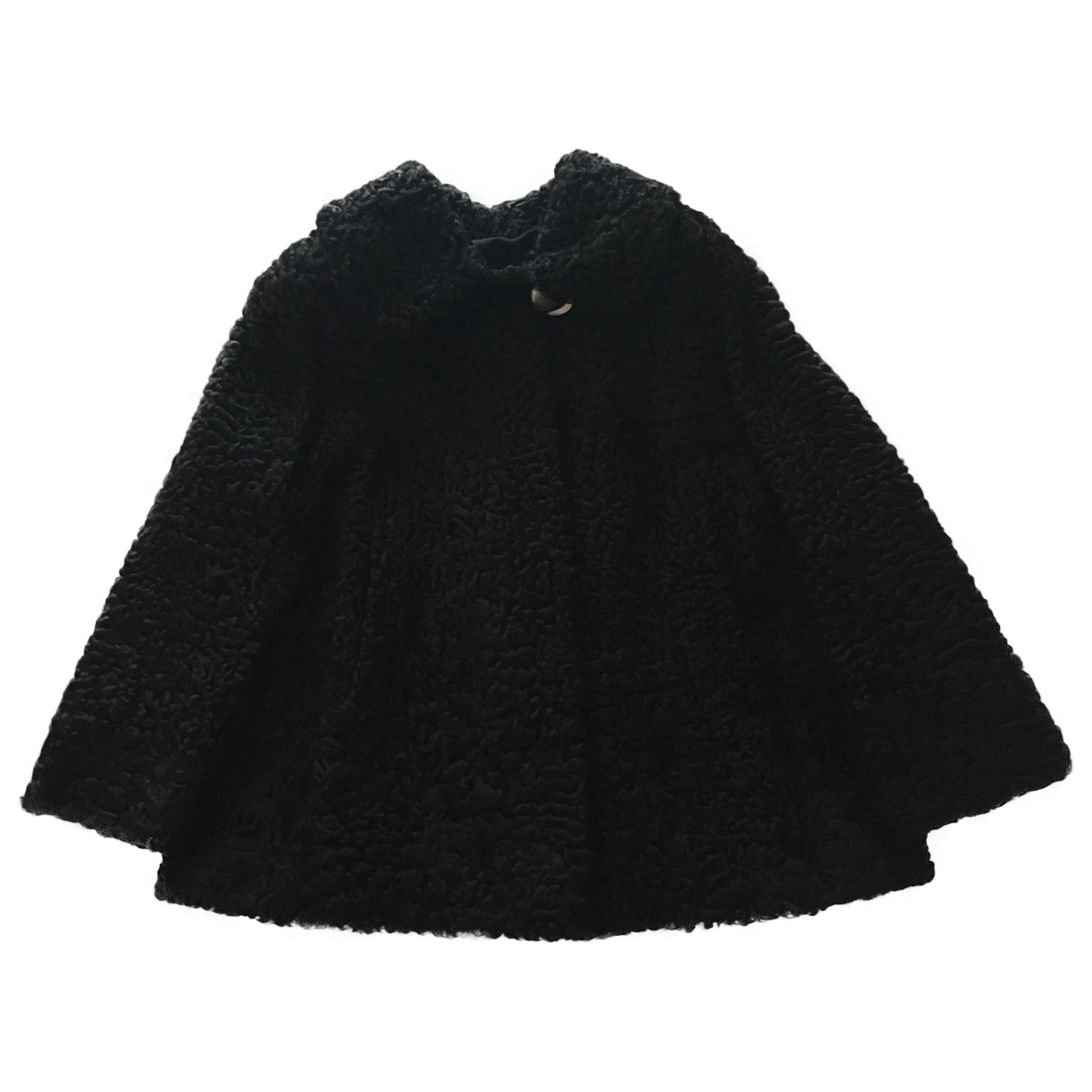 Non Signé / Unsigned \N Black Astrakhan coat for Women 48 IT