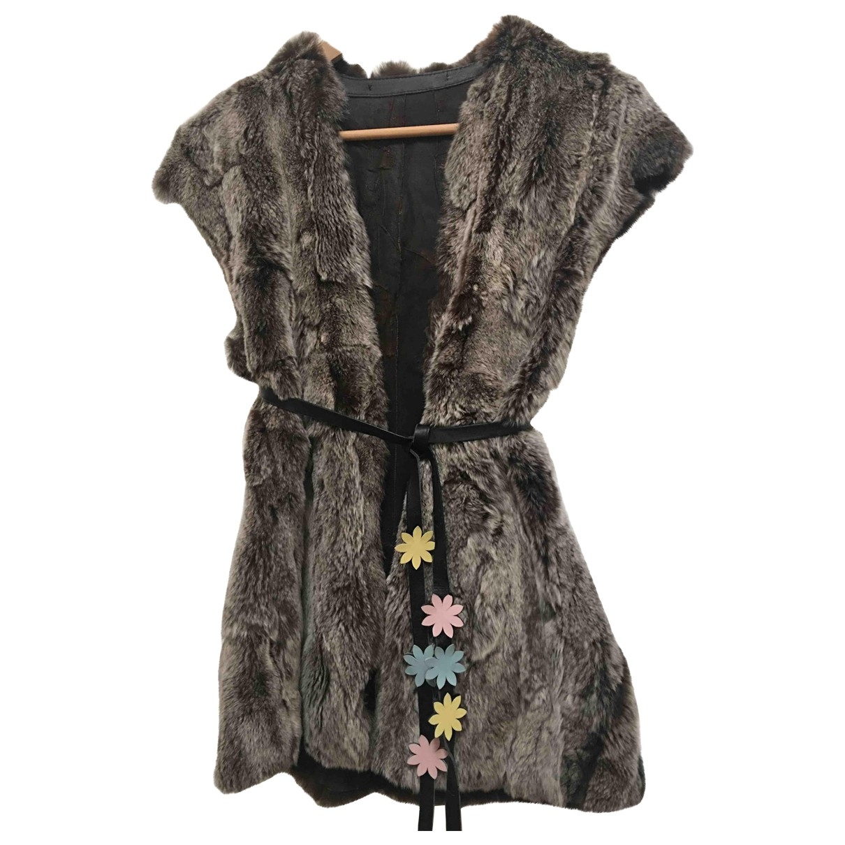 Non Signé / Unsigned \N Brown Rabbit Knitwear for Women 42 IT