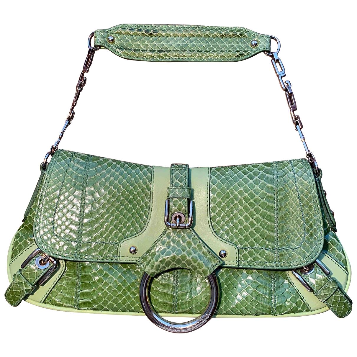Dolce & Gabbana - Pochette   pour femme en python - vert