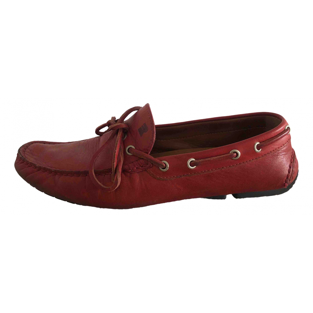 Fratelli Rossetti \N Red Leather Flats for Men 7.5 UK
