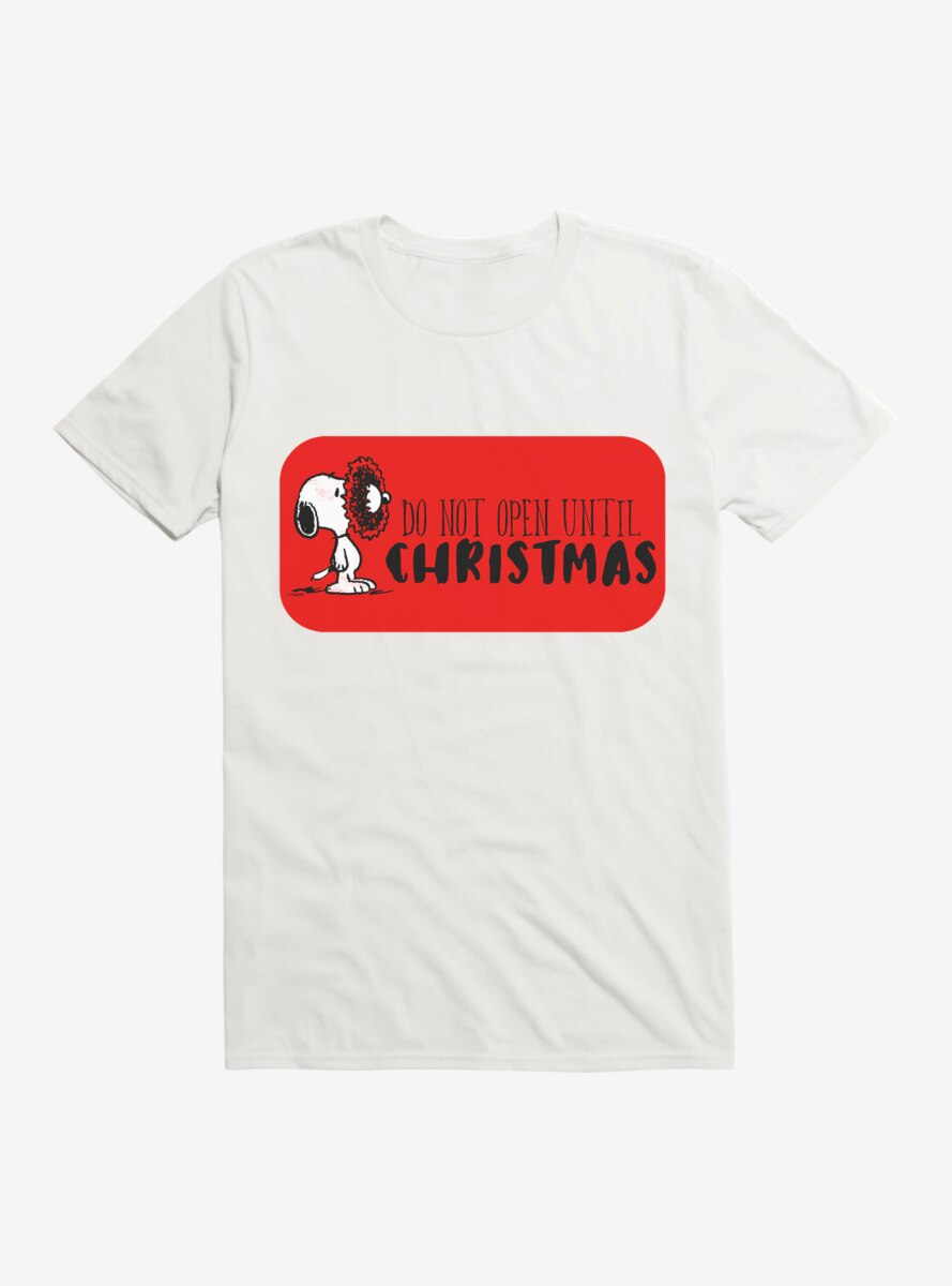 Peanuts Snoopy Not Until Christmas T-Shirt