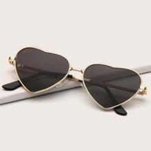 kinder Sonnenbrille mit Herzen formigen Linsen und Metall Rahmen