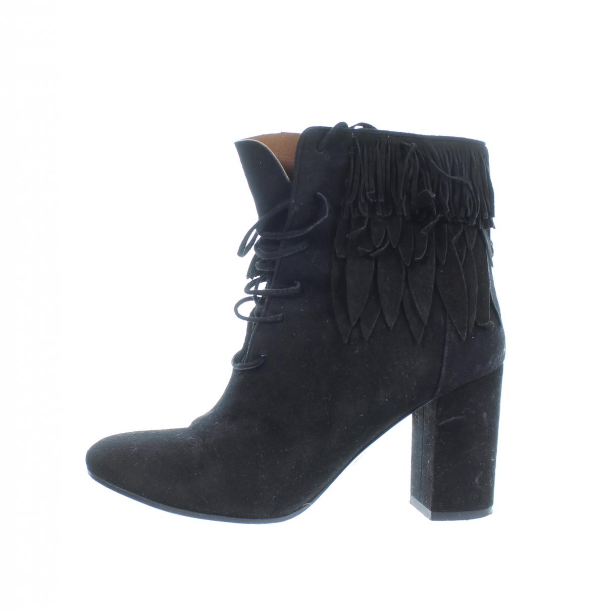 Aquazzura - Boots   pour femme en suede - noir