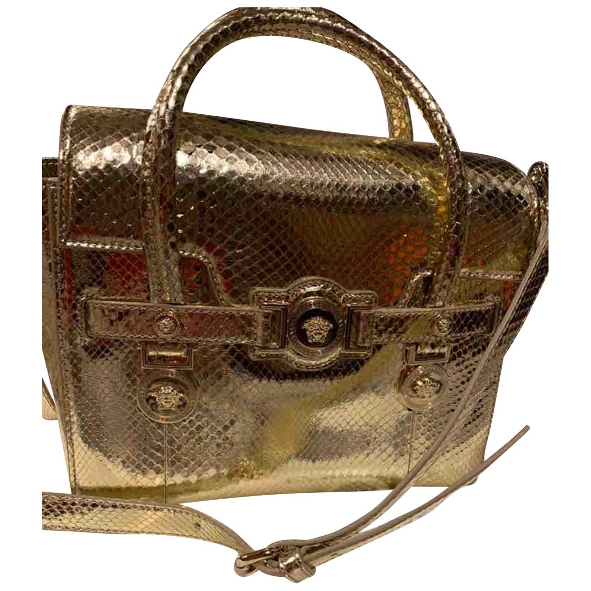 Versace Palazzo Empire Handtasche in  Gold Python