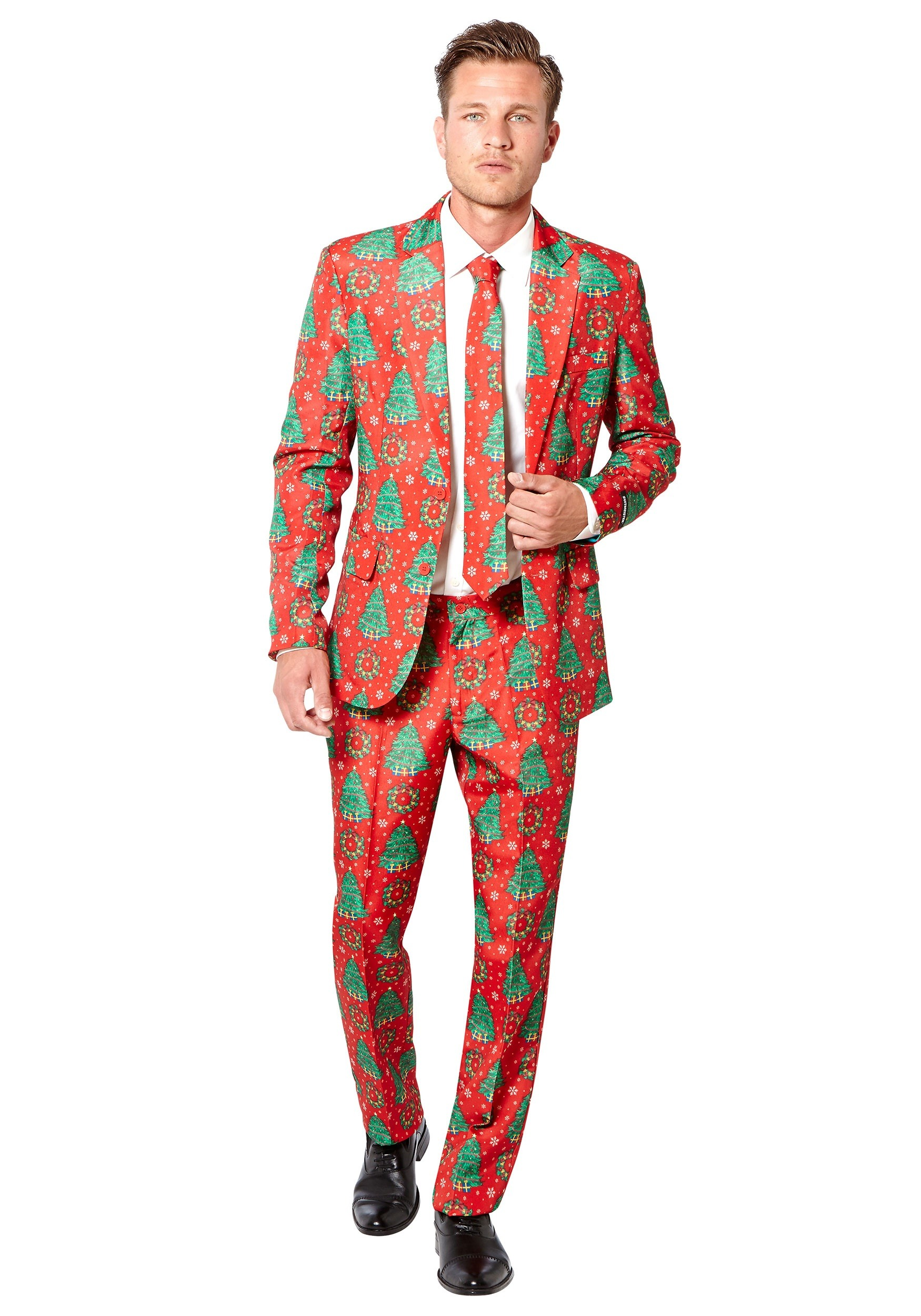 Men's Red Christmas Trees Suitmeister Suit