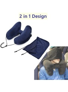 H-Type Inflatable Neck Protection for Airplanes Car Travel Pillow