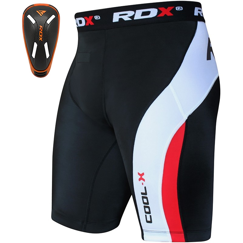 RDX Coquille Protection and Thermique Short de Compression Moyenne  Orange