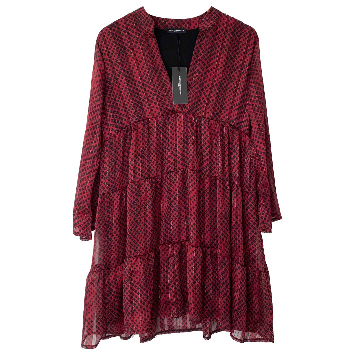 Non Signé / Unsigned \N Burgundy dress for Women 36 FR