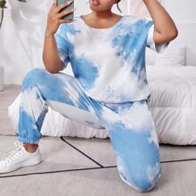 Pijamas de Talla Grande Tie-Dye Casual