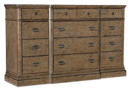 6102-90002-80 Montebello Twelve-Drawer Dresser  in Medium