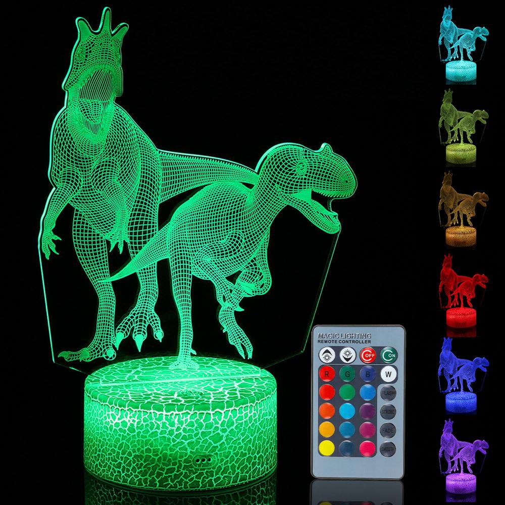 3D Illusion Night Light Touch Remote Control Home Decor Table Desk Lamp