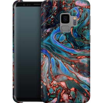 Samsung Galaxy S9 Smartphone Huelle - Marbled Darkness von Amy Sia