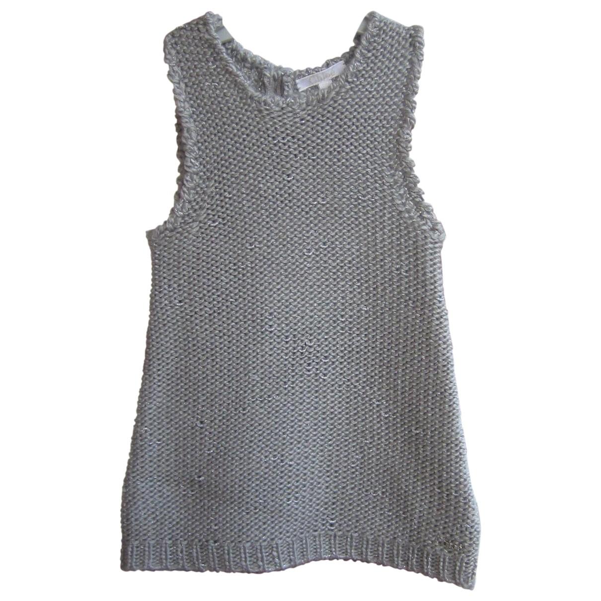 Chloe - Robe    pour enfant en laine - gris