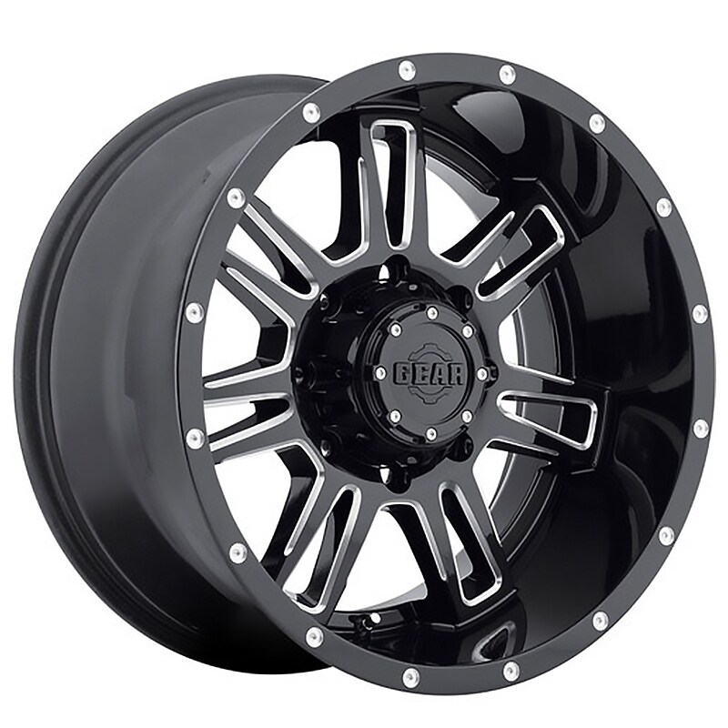 Gear Off Road 737bm challenger 18x9 6x135/6x139.7 -12et 108.00mm gloss black with cnc milled accents wheel