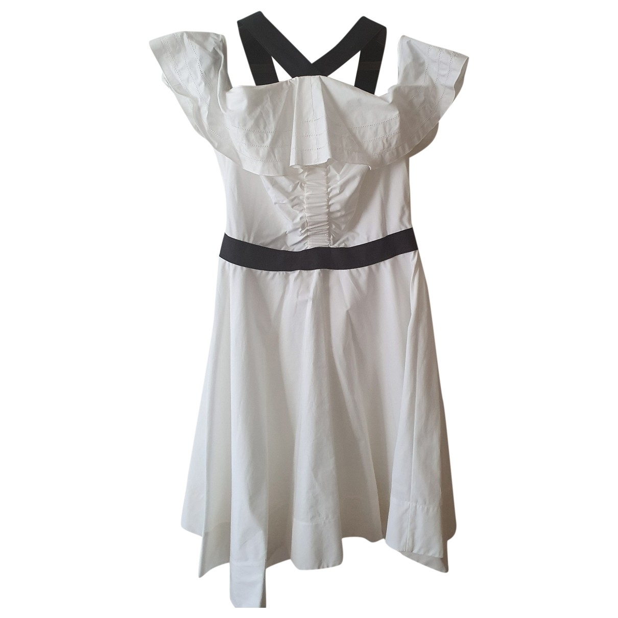 10 Crosby By Derek Lam \N White Cotton dress for Women 8 US