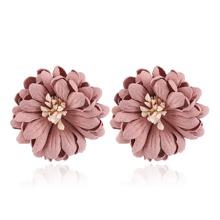 Layered Flower Stud Earrings 1pair