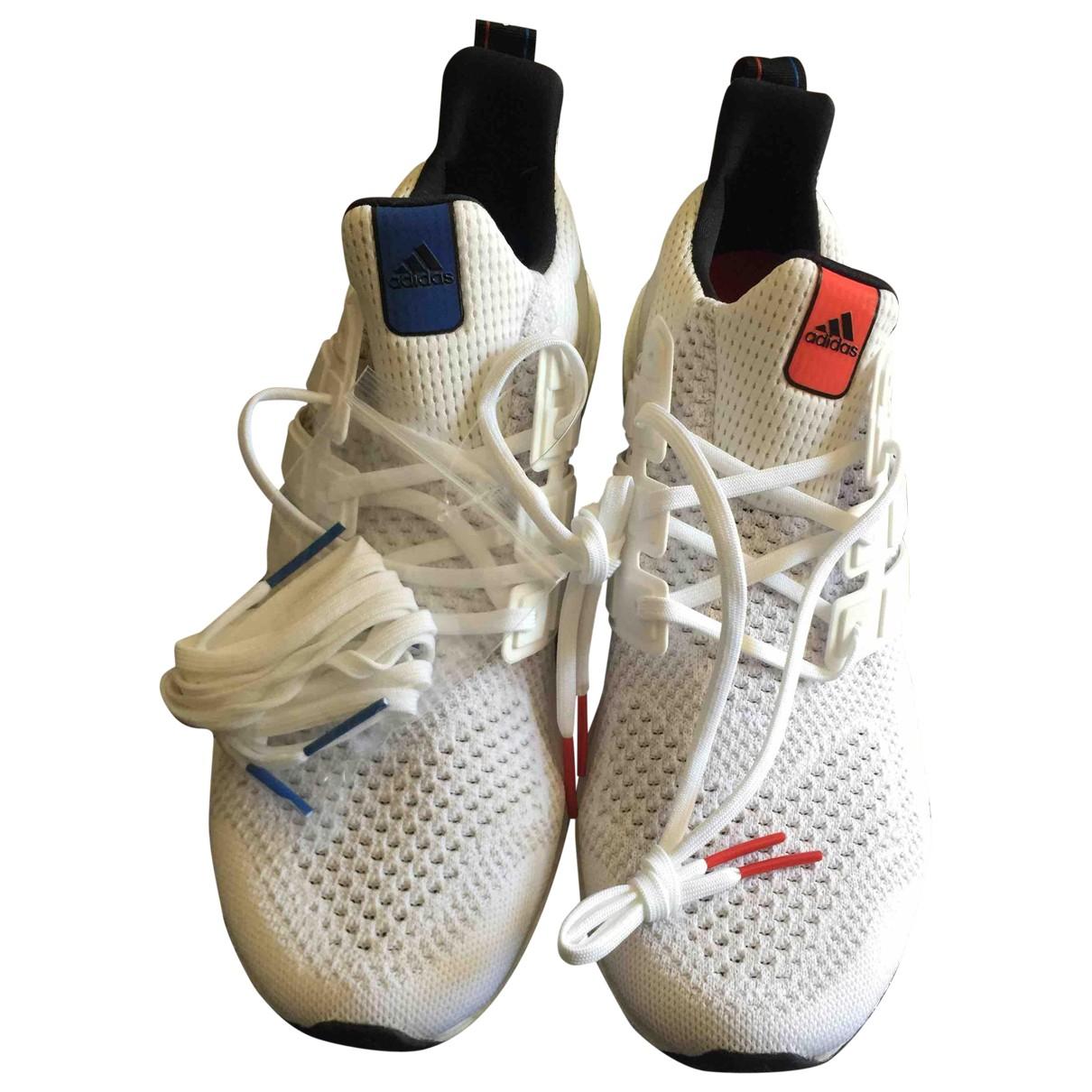 Adidas Ultraboost Sneakers in  Weiss Leinen