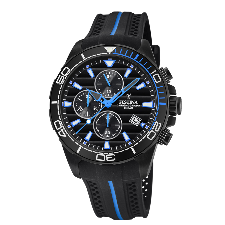Festina Men's The Originals F20366-2F37 Black Silicone Quartz Fashion Watch