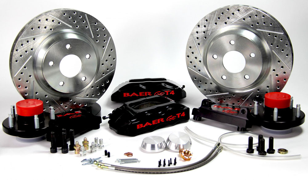 Baer Brakes Brake System 13 Inch Front Track4 Black 55-68 GM Y Body