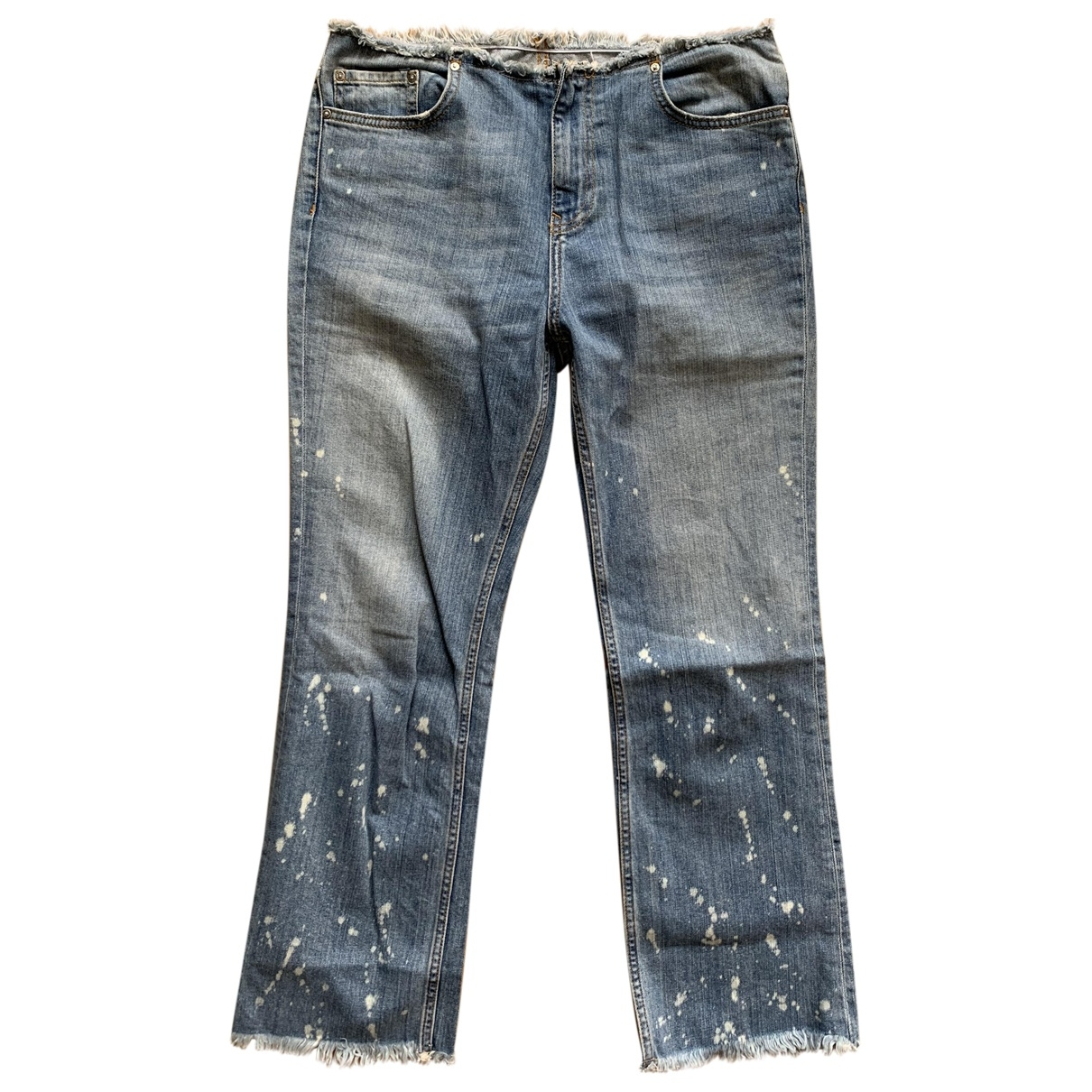 Free People \N Blue Cotton - elasthane Jeans for Women 27 US