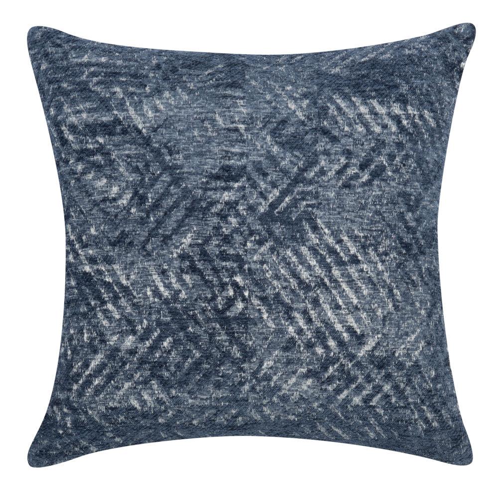 Kissenbezug aus gewebtem Jacquard, blau, 40x40