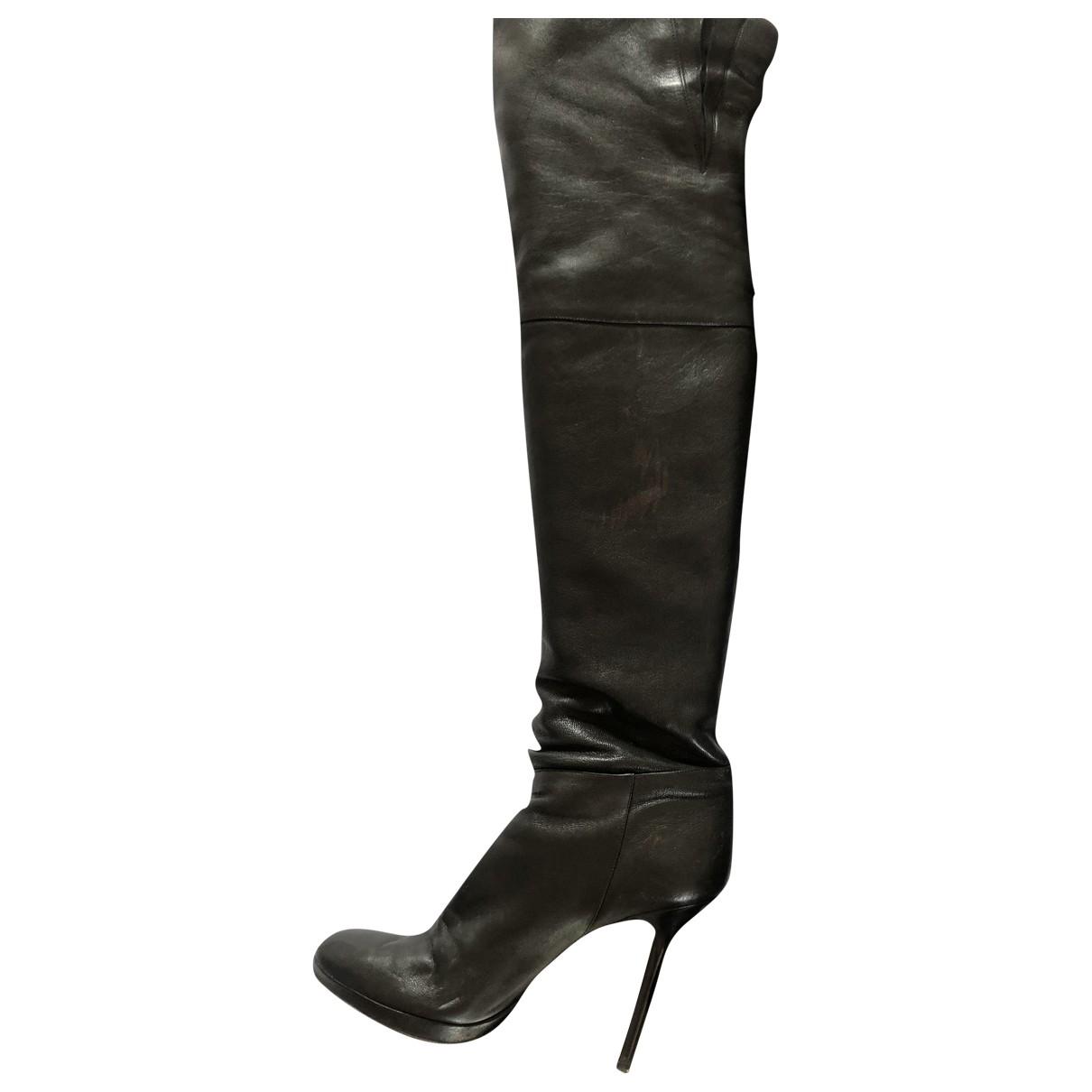 Jimmy Choo - Bottes   pour femme en cuir - noir