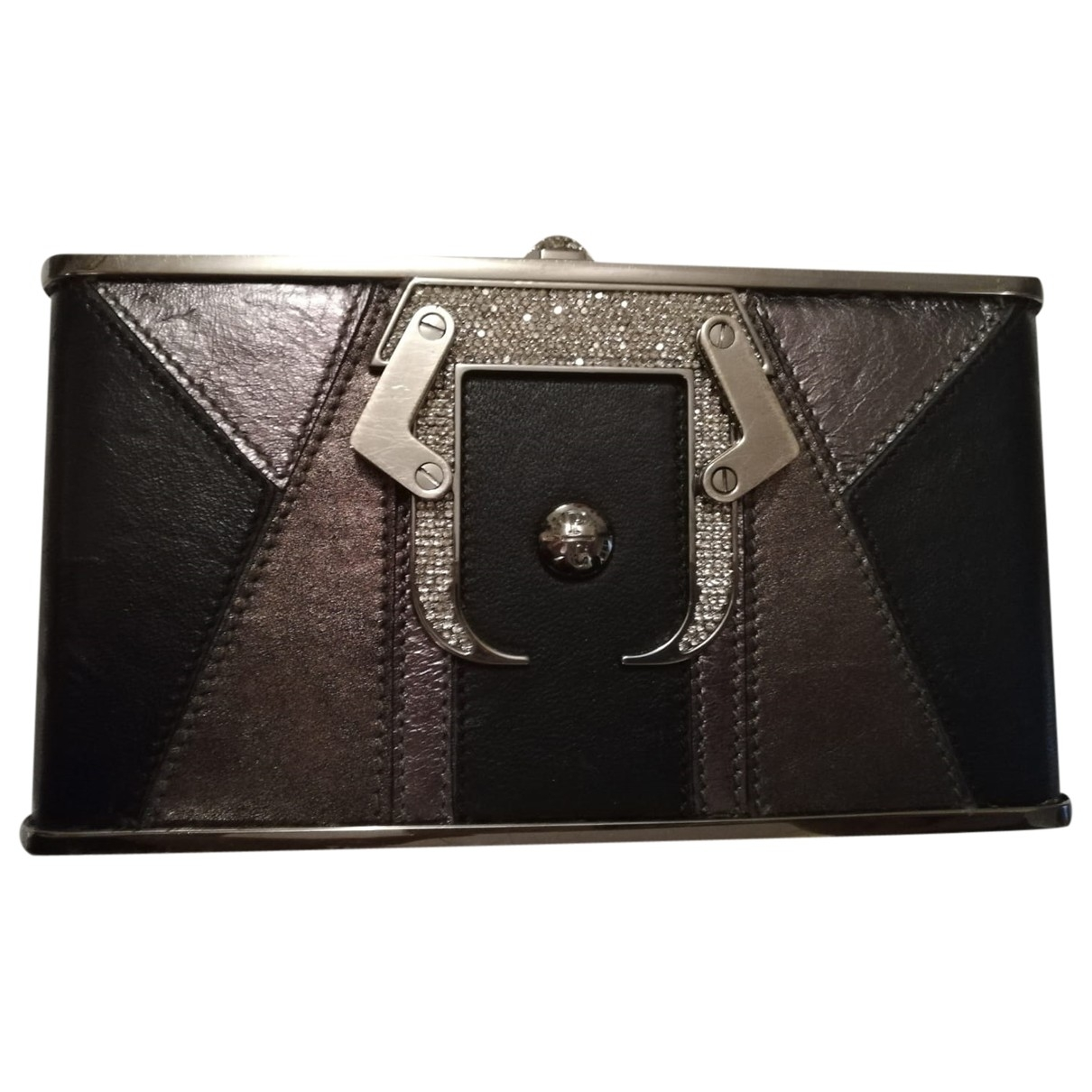 Paula Cademartori \N Anthracite Leather Clutch bag for Women \N