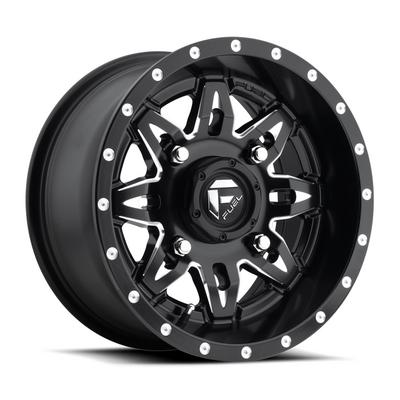 MHT Fuel Offroad Lethal D567, 15x7 Wheel with 4 on 156 Bolt Pattern - Matte Black Milled - D5671570A544