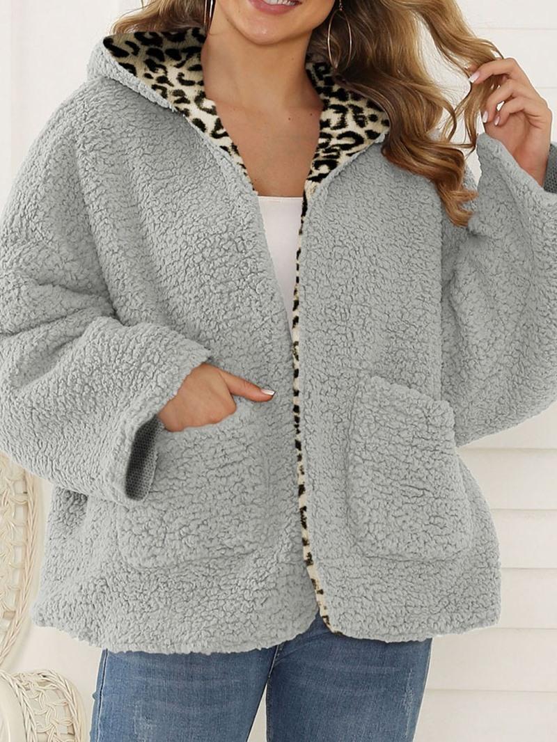 Ericdress Regular Loose Winter Hooded Overcoat