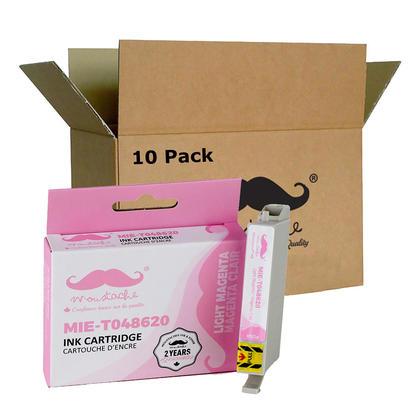Compatible Epson T048620 cartouche d'encre magenta clair - Moustache - 10/paquet