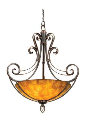 Mirabelle 5194PS/ECRU 40 Pendant in Pearl Silver with Ecru Standard Bowl Glass