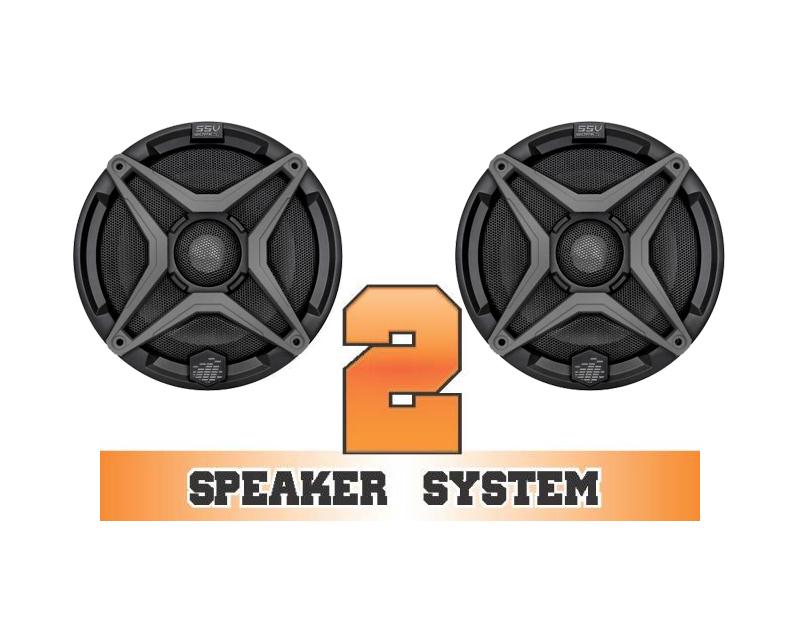 SSV Works RANGER-2 Complete 2 Speaker System Polaris Ranger RZR XP 4 900 EPS LE 12-13