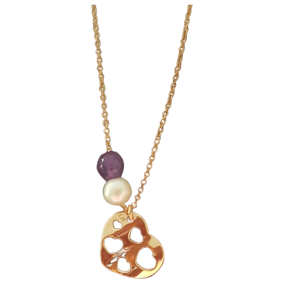 Non Signé / Unsigned Médailles Gold Pink gold pendant for Women \N
