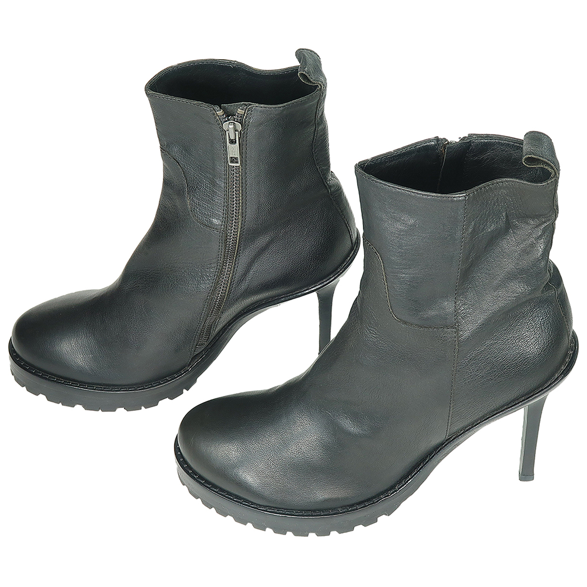 Ann Demeulemeester N Black Leather Ankle boots for Women 41 IT