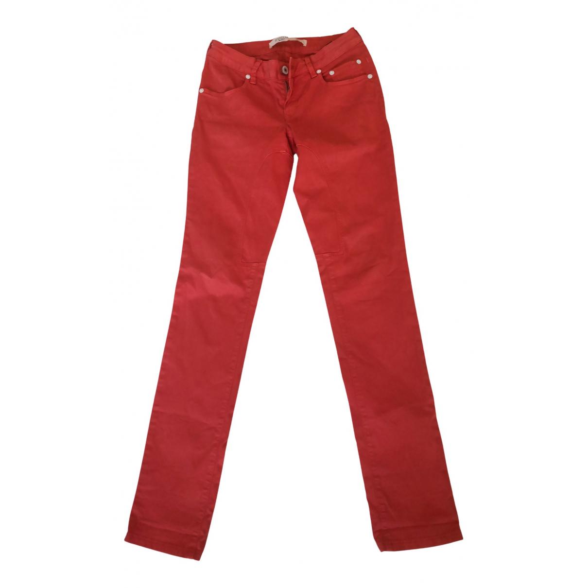 Pantalones en Algodon Naranja Atelier Siviglia