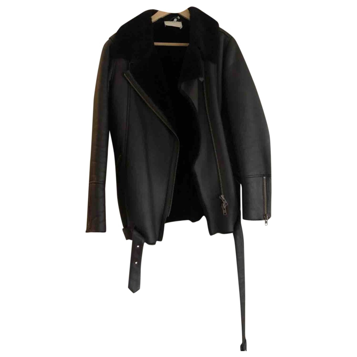 Just Female \N Brown Shearling jacket for Women 38 FR