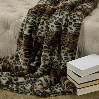 Wild Leopard Collection PBEZ1778-102x116 102L x 116W California King Faux Fur Luxury