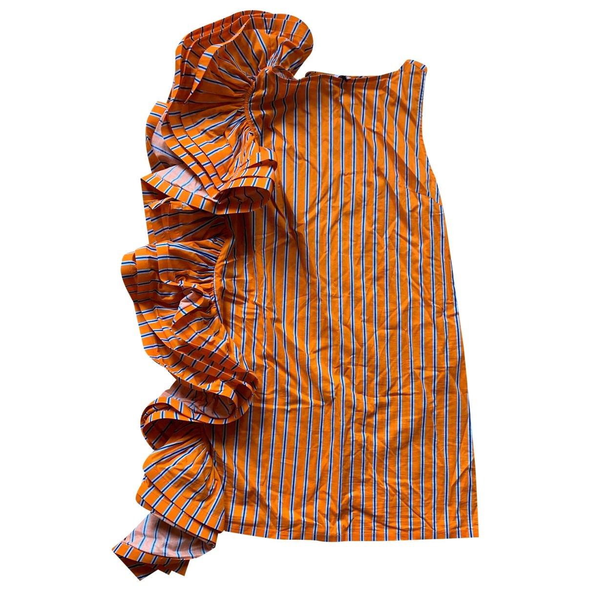Weili Zheng - Robe   pour femme en coton - orange