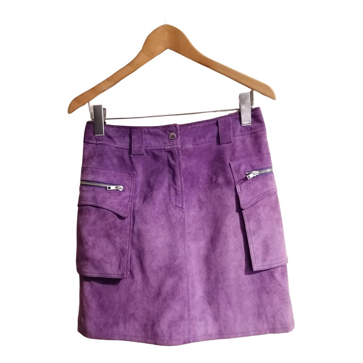 Steffen Schraut \N Purple Leather skirt for Women 36 FR