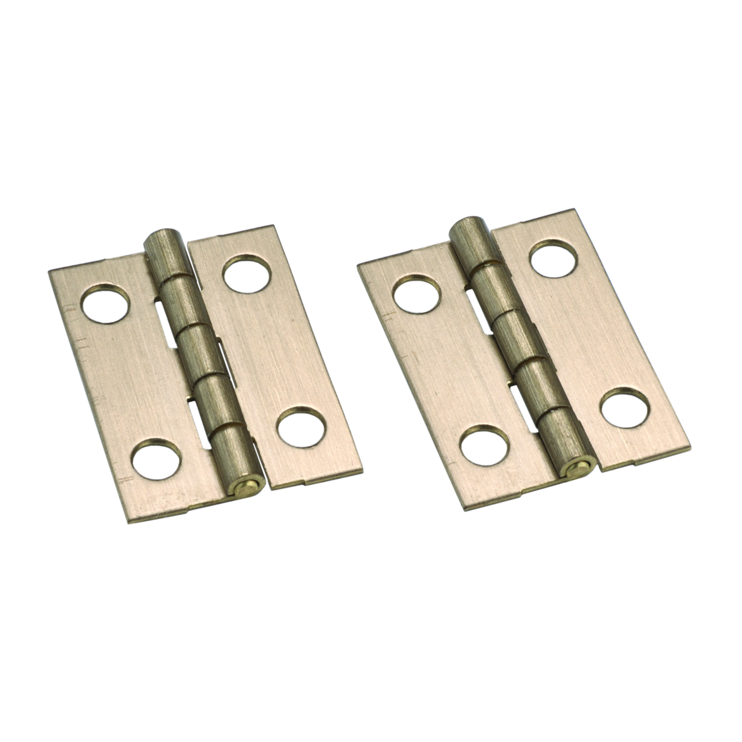 Stanley Solid Brass Ab Miniature Narrow Hinge 1