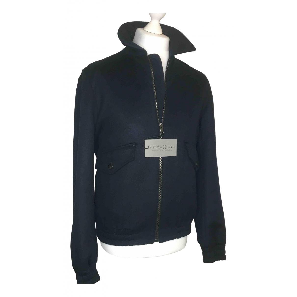 Gieves & Hawkes - Manteau   pour homme en laine - marine