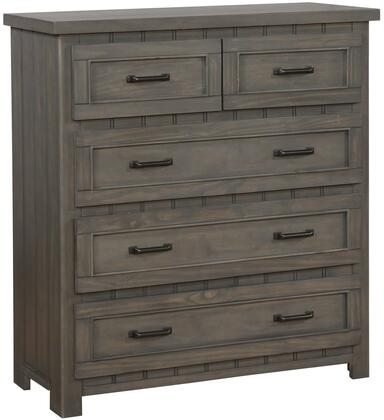 Napoleon Collection 400935 Chest with 5 Drawers  Sleek Metal Bar Pulls  Clean Line Design and Pine Wood Construction in