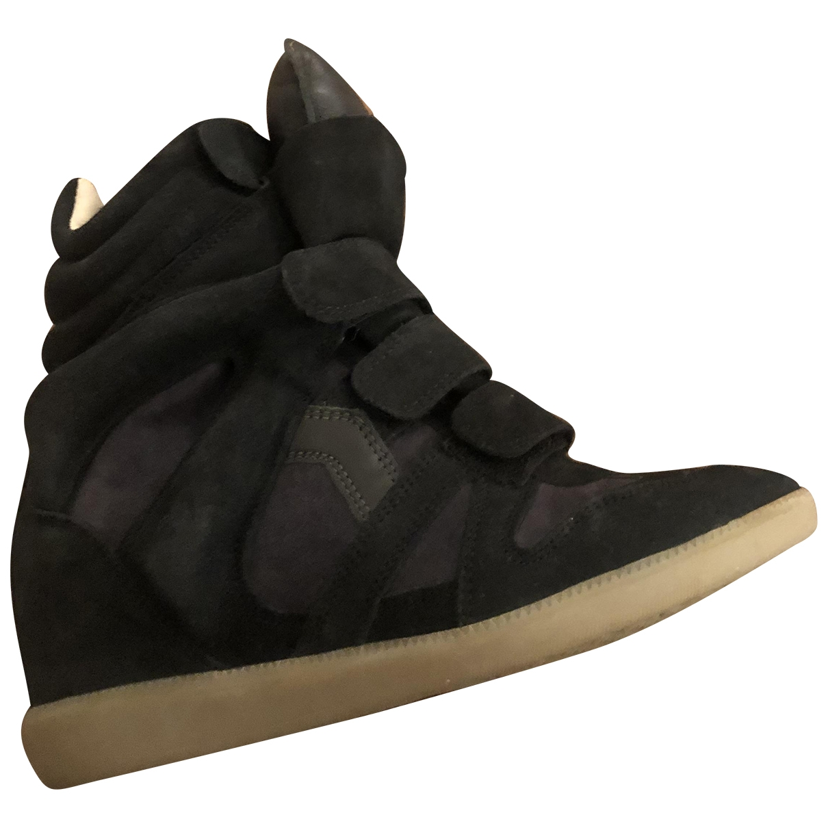 Isabel Marant Beckett Navy Suede Trainers for Women 4 UK