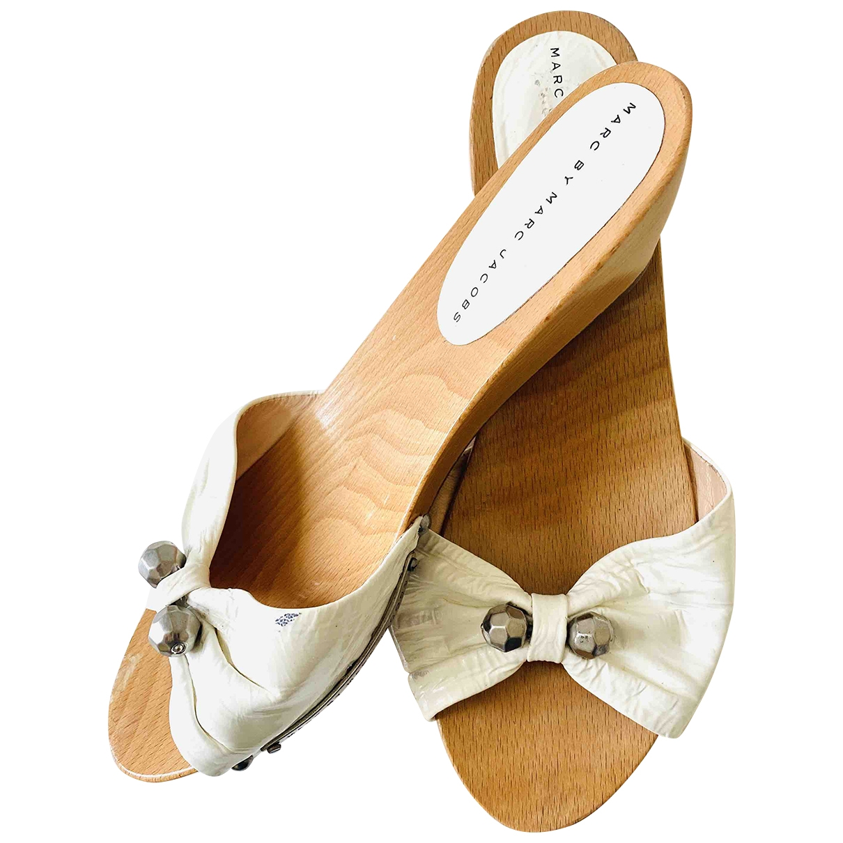 Marc By Marc Jacobs \N Clogs in  Weiss Leder