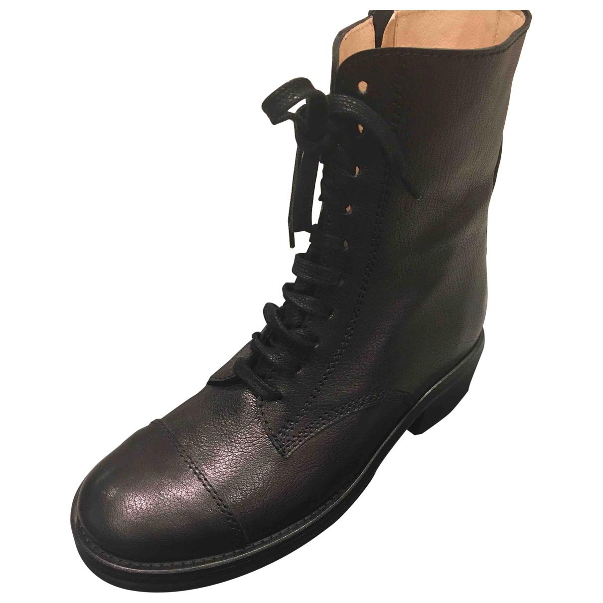 Morobe - Bottes   pour femme en cuir - noir