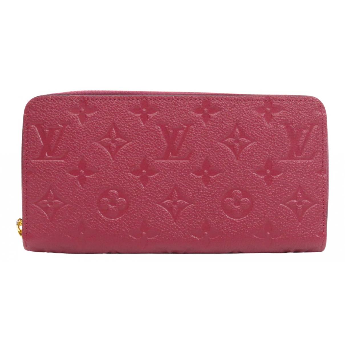 Louis Vuitton \N Portemonnaie in  Lila Leinen