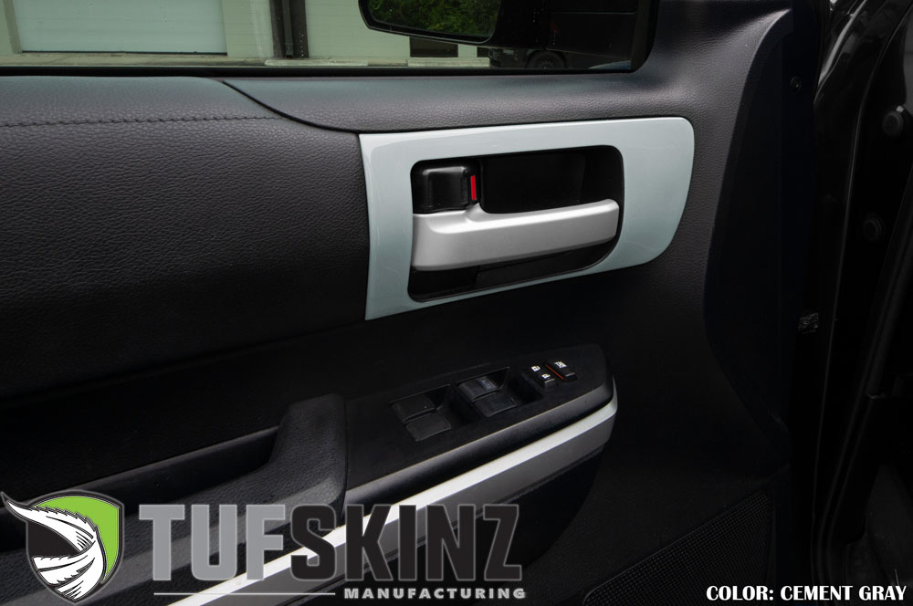 Tufskinz TUN028-GGY-G Front Door Handle Accent Trim Fits 14-up Toyota Tundra 2 Piece Kit Cement Gray